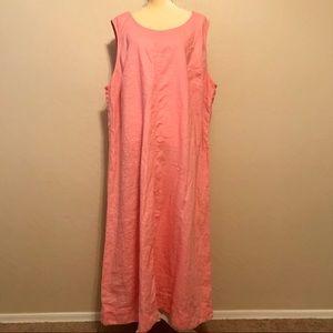 J. Jill 100% linen dress 4X salmon pink